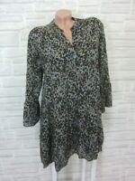Blogger Hängerchen Kleid Tunika Volant Print 38 40 42 Grau Mix K453 ITALY
