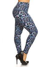25bc04eea4e Plus Size Leggings XL-2X Honeycomb Laser Net Polyester Spandex LEGGINGS  DEPOT