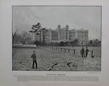 1896 LONDON PRINT + TEXT KNELLER HALL NEAR HOUNSLOW TWICKENHAM