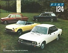 Auto Brochure - Fiat - 124 - Sport Spider Coupe Wagon Special - 2 items (AB990)