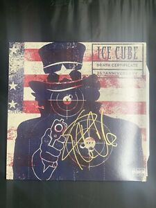 Ice cube Signed LP Vinyl Disc Beckett COA DL1 Rare