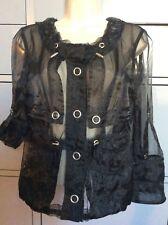 Women's black Costume National jacket size 26/40