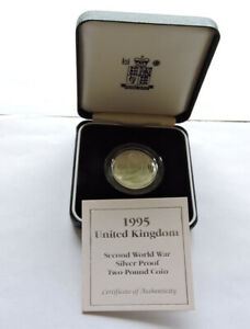 1995 Royal Mint Silver Proof £2 Dove Of Peace Cased With COA