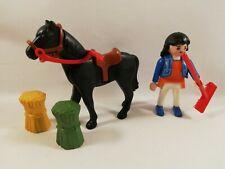 sympa cheval lot equestre equitation   playmobil ( ferme ) 1475