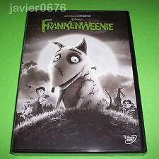 FRANKENWEENIE TIM BURTON DISNEY DVD NUEVO Y PRECINTADO