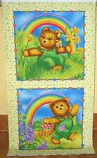 "1 Darling ""Corduroy Teddies"" Cotton Fabric Quilting/Wallhanging Panel"