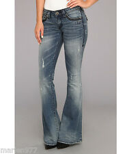 Affliction Women`s ZIGGY Cathederal Flare Jeans in Horizon 25 New $135