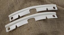VW Early Bay Camper combi Front Bumper Join Strip Pair 68-72 New cloud white bus