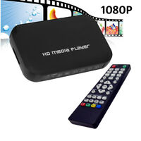 A28D USB SD MMC HDMI VGA AV YPbPr Multi TV Media Player + IR Fernbedienung 1080p