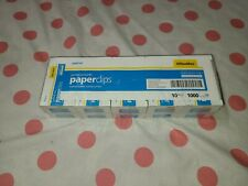 Office Max Jumbo Smooth Paper Clips 10 Boxes 1000 Clips Om99147 Brand New