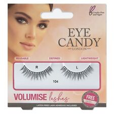 Eye Candy False Eyelashes Eye Styles Volumise 104 + Adhesive Glue Long Thick