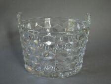 Elegant Glass Fostoria American Ice Bucket with Tab Handles
