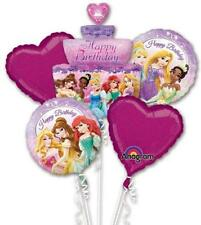 Anagram HAPPY BITHDAY DISNEY PRINCESSES BALLOON BOUQUET 5 Balloons Princess Pink