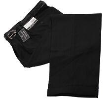 Mens Trousers Black Dress Pants Big & Tall Pleated Slacks & Belt Sizes 44 to 70