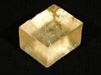 A Very Translucent! Iceland Spar HONEY Calcite Crystal Mexico 59.4gr
