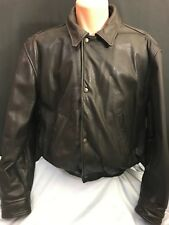 Vtg Bomber Jacket Leather Banana Republic Brown Sz 42 Original Travel Clothing