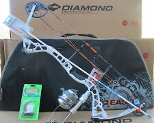 2017 Diamond Edge PRO Sonar KRYPTEK YETI BOWFISHING BOW 55# RH MUZZY PACKAGE