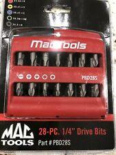 "Mac Tools 28-pc 1/4"" Drive Bits Pbd28s"