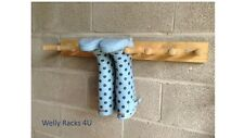 Wellington Boot rack/welly rack 4 Pair wall mounted, riding, storage solution