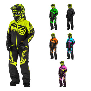 FXR Racing Boost Child Snowmobile Monosuits with knit cuffs