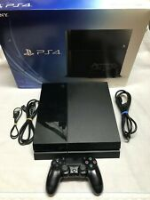 Sony PlayStation 4 PS4 500GB Black Console W/Controller and all Cords + Box