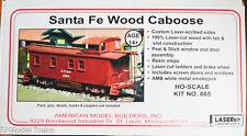 American Model Builders HO #865 Santa Fe Wood Caboose Kit (LaserCut Wood)