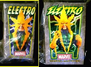 Electro Bust Matched Set of 2 #554 Statue New 2004  Bowen Marvel  Amricons