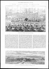 1885 POLITICAL ELECTIONS Lord Randolph Churchill Birmingham Townhall (082)