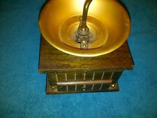 """Vintage Style Coffee Grinder 6 1/4"""" W X 6"""" Tall W/2 Metal Bands Top & Bottom"""