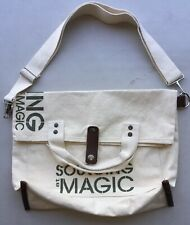"""Sourcing At Magic Canvas Shoulder Tote With Handles. 12.5""""x 15"""""""