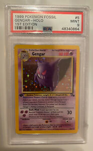 PSA 9 1st Edition Fossil Gengar Holo Pokemon Card