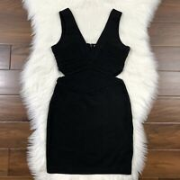 Parker Women's Size Small Black Sleeveless Claudia Cut Out Dress LBD Sexy