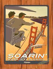 """Disney's Soarin"" Movie Ride Art Poster Attraction California Tin Sign"