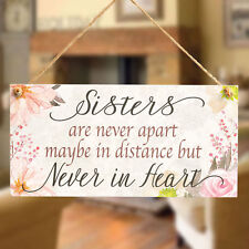Sisters Are Never Apart - Meaningful Gift for Long Distance Sister Going Away