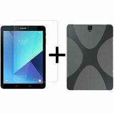 2 en 1 Jeu pour Samsung Galaxy Tab S3 Sm-T820 T825 Housse Ipad + Film Panzer