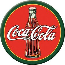 "3 "" Dia. Round Metal Sign Refrigerator Magnet 1930's Coca Cola Bottle"
