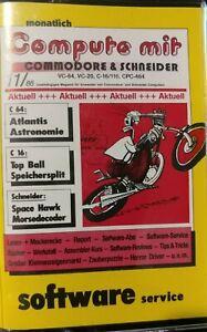 Compute Mit Commodore & Schneider 11/86 Programm-Kassette (Tape, Box) Magazin