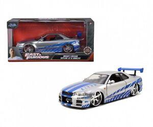 Jadatoys 253203044 - 1:24 Fast & Furious 2002 Nissan Skyline - Neuf