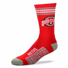 Ohio State Buckeyes Men's Crew Socks Youth Size 1 to 5 4 Stripe
