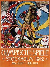 CULTURAL SPORT OLYMPIC GAMES STOCKHOLM SWEDEN 1912 OLD ADVERT POSTER 1634PYLV