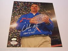 URBAN MEYER FLORIDA 06 NATIONAL CHAMPS 8X10 FOOTBALL PHOTO JSA CERTIFIED TICKET