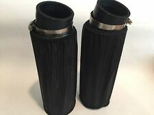 "Yamaha Banshee K&N Style Drag Air Filter Set Filters 10"" & Pre Outerwears Pair"