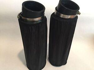 "Yamaha Banshee K&N Style Drag Air Filter Set Filters 10"" & Pre Outerwears Pair"