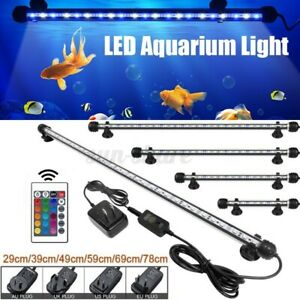 19-69CM RGB Submersible Light Bar Fish Tank Waterproof LED Air Light Bubble