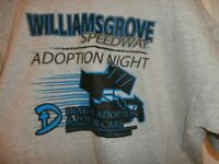 Vintage Williams Grove Speedway Diakon Adoption Night T Shirt  size XL