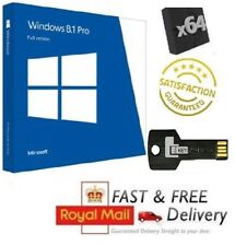 Windows 8.1 Pro 64-bit Full UK Version on USB & License COA Product Key