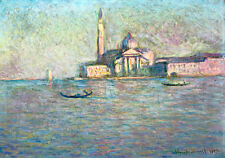 The Church of San Giorgio Maggiore Venice by Claude Monet A1 Art Print