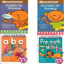 Pre school Fun Learning Activity books Key Skills Practice English & Maths Set