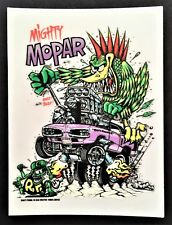 Mighty Mopar STICKER Decal Ed Big Daddy Roth Rat Fink RF10A