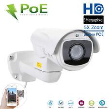 Bullet IP POE CCTV Security Camera HD 5MP 1920P In//Outdoor IR Color Night Vision